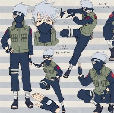 Free Shipping Japanese Anime Naruto Hatake Kakashi Cosplay Costume Uniform Full set (Top + Pants +Vest)
