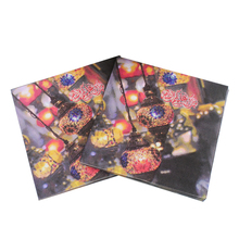 [RainLoong] Islamic Month Ramadan Kareem Theme Paper Napkin Tissue For Muslim Eid al-Fitr 33cm*33cm