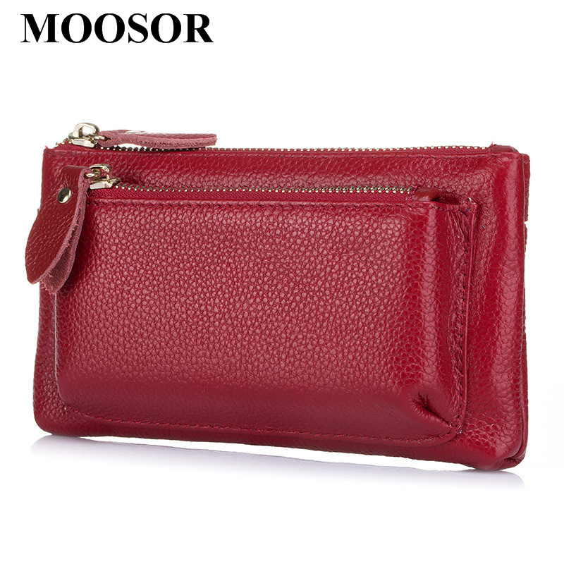 Genuine leather Women Bag Day Clutches Card Holder Zipper Coin Purse Women Wallet Mobile Phone Bags Pouch Storage Bag DC194 high quality women classic makeup bag phone cases zipper organizer storage bags day clutches