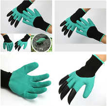 2017 New Gardening Gloves for garden Digging + Planting with 4 ABS Plastic Claws