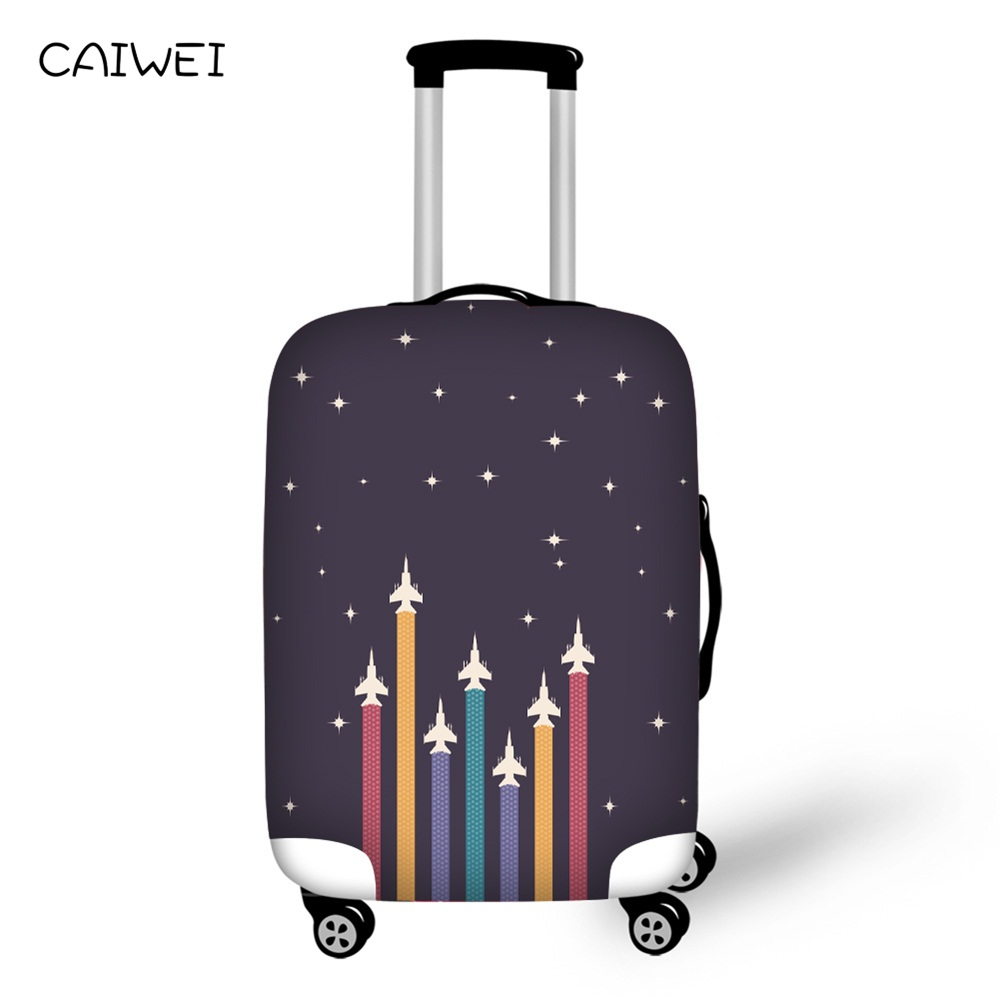 Travel accessories suitcase protective covers 18-30 inch elastic luggage dust cover case stretchable Waterproof Aircraft pattern ...