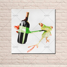 2017 Big Size High Quality Handpainted Frog Oil Painting on Canvas wall Art  picture Room Decoration Beautiful Picture no Framed