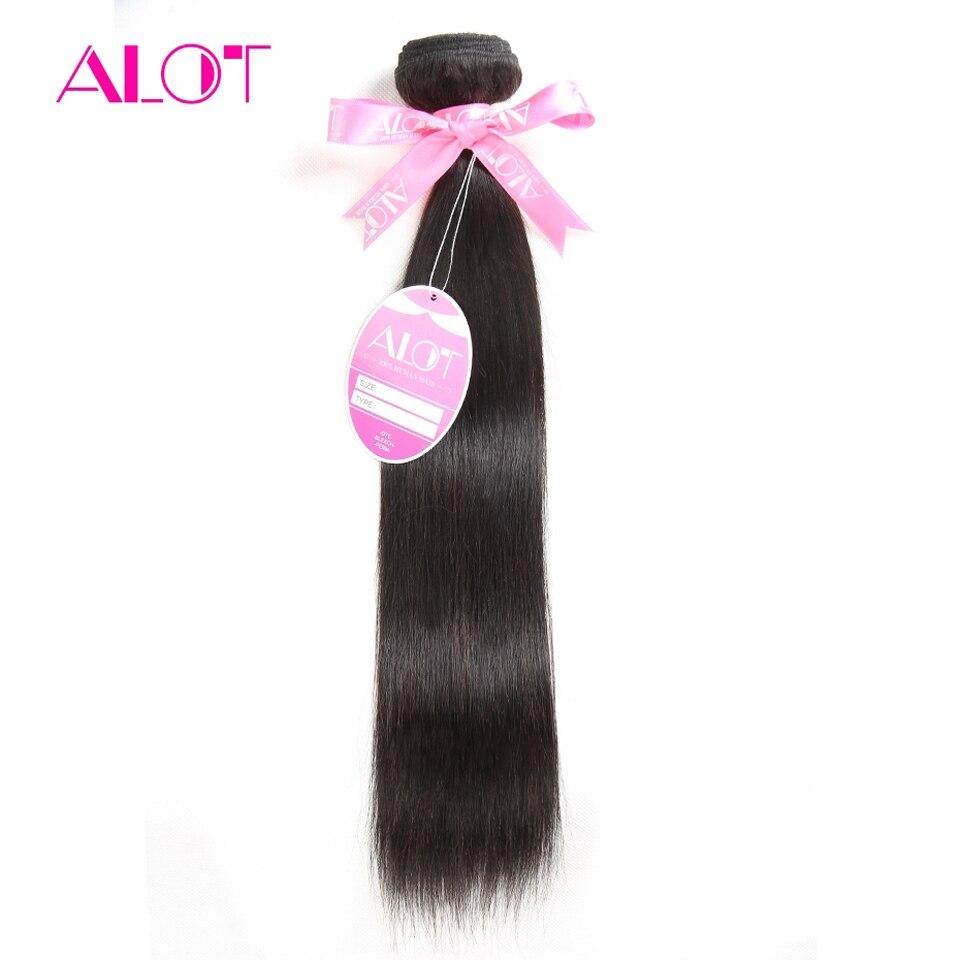 ALOT Hair Peruvian Virgin Hair Straight 1pc/lot 100% Unprocessed Human Hair Weave Bundles Natural Color 12-28Inch