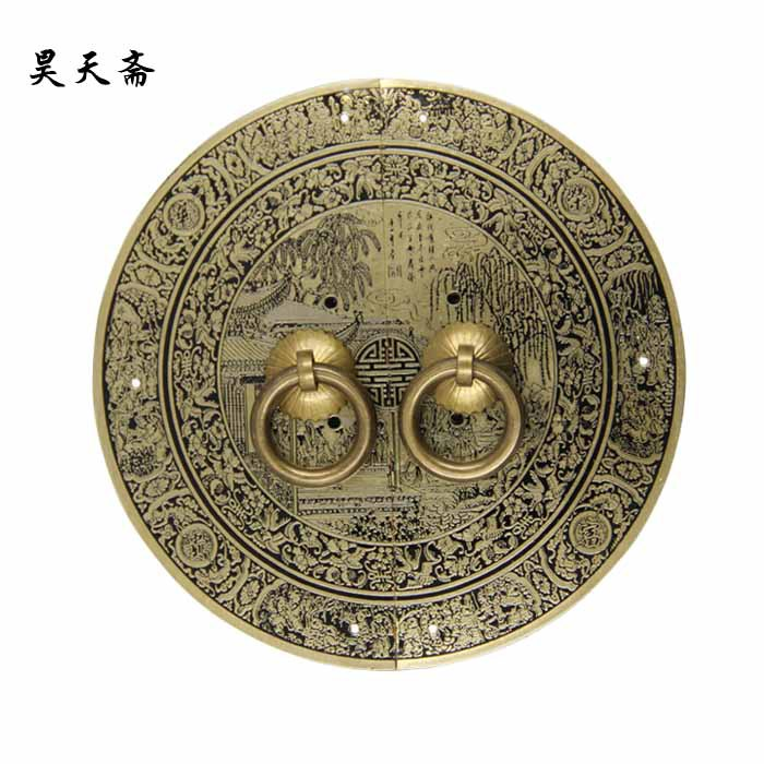 [Haotian vegetarian] Chinese furniture of Ming and Qing antique bronze copper copper locking plate door handle great wealth fund sma female to rp sma male right angle adapter connector