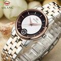 Классические женские деловые часы с автоматическим намоткой  наручные часы  нержавеющая сталь  кристаллы  элегантные женские часы
