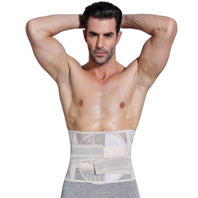 Men Shapewear Fat Slimming Belt Tummy Control Cincher Corset Stomach Body Shaper Mens Bodysuit Gym Waist Trimmer 4
