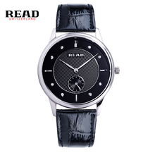 READ relogio masculino Luxury Brand Analog Display Date Men's Quartz Business Watch women fashion military leather strap R6025