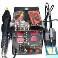 Free Shipping 3 In 1 Hot Air Gun Rework Station SAIKE 909D Soldering Station Power Supply