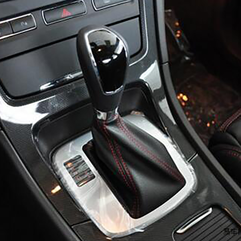 New Full Leather AT Automatic Transmission Car Gear Shift Knob For Ford Mondeo Mk4 S-MAX Galaxy Gear Handle Ball Car Styling