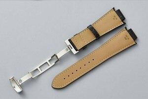 Image 4 - T60 14 ミリメートル × 24 ミリメートル L975.110 革時計バンドストラップウォッチ男性時計バンド T60