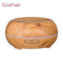 400ml Wood Grain Electric Air Humidifier Ultrasonic Essential Oil Diffuser For Office Home Aroma Treatment LED Night Light