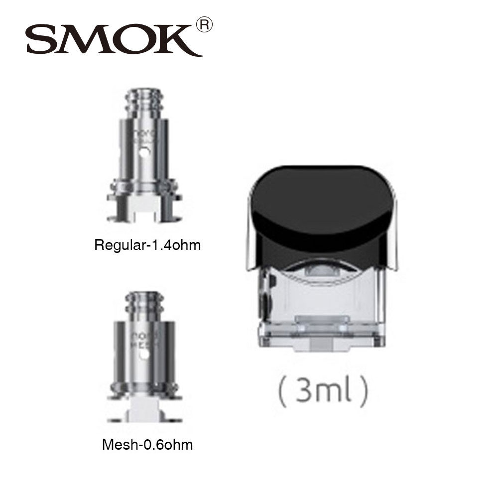 100% Original SMOK Nord Replacement Pod 3ml with 0.6ohm/1.4ohm Coil Head for SMOK Nord Kit Electronic Cigarette SMOK Nord Vape100% Original SMOK Nord Replacement Pod 3ml with 0.6ohm/1.4ohm Coil Head for SMOK Nord Kit Electronic Cigarette SMOK Nord Vape