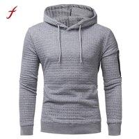 Fashion Mens Long Sleeve Hoodie Plaid Hooded 2017 Sweatshirt Pullover Tops Outwear Slim Plus Size Tracksuit