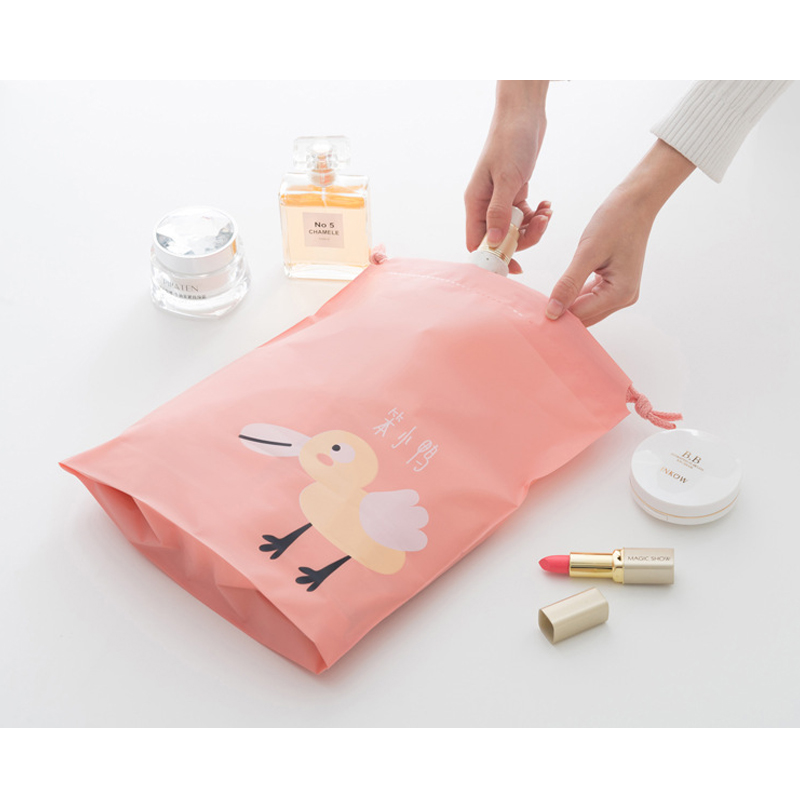 Модные Портативный мешки Drawstring обувь для девочек сумки Для женщин хлопок дорожный футляр для хранения одежды сумки Высокое качество Макияж...