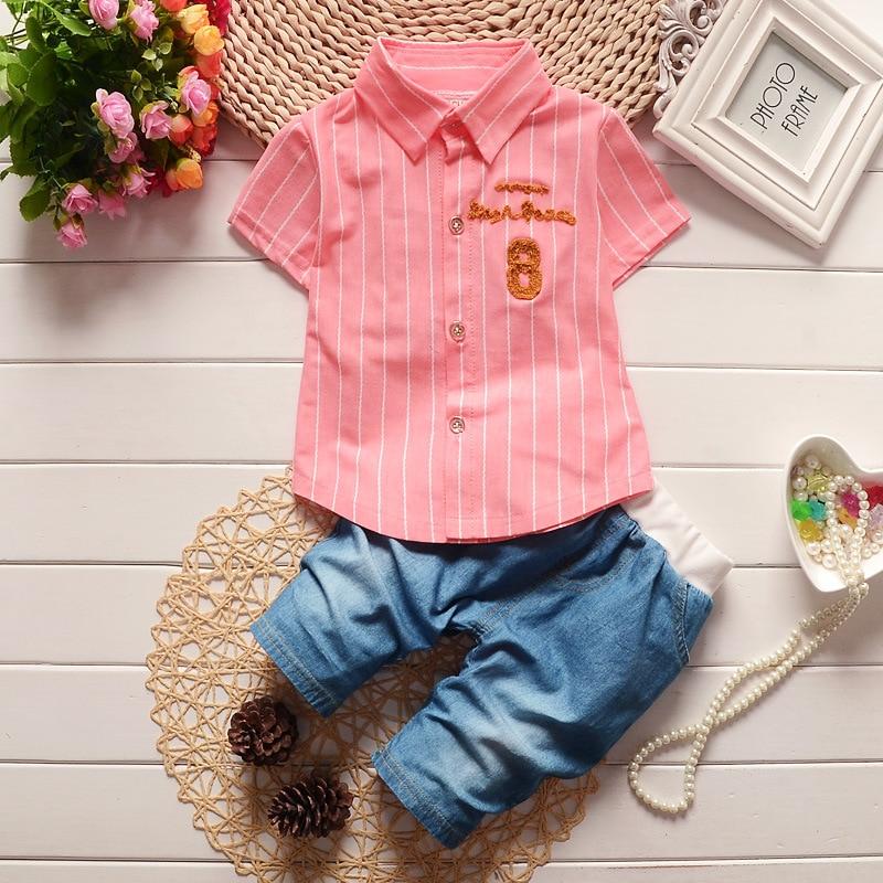 Children Short Sleeve Tops Short Pants Outfit Set Clothing Suit Summer Clothes