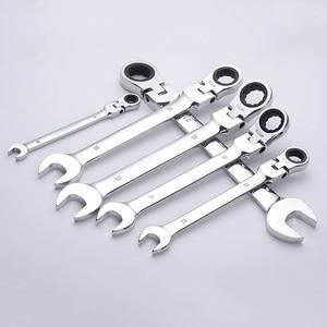 Image 2 - クロームバナジウム鋼可動ラチェットレンチ柔軟な開放端レンチトルクレンチ耐久性のある修理ツール抱擁 セール