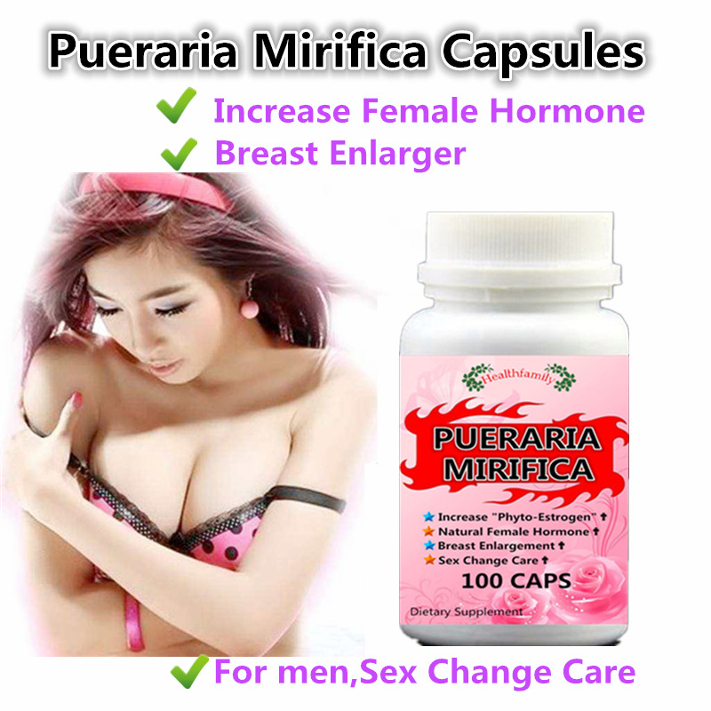 Pueraria Mirifica Extract,Breasts,hips and buttocks enlarger,gender Change Feminizer,For man and woman 100pcs/bottle все цены