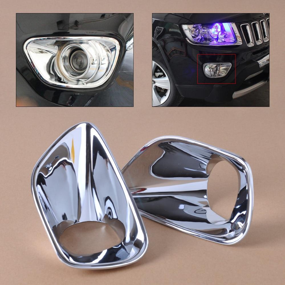 Beler 2 Pcs ABS Chrome Antibrouillard Avant Couverture Lampe Garniture Décorative pour Jeep Grand Cherokee 2011 2012 2013 De Voiture Stylings
