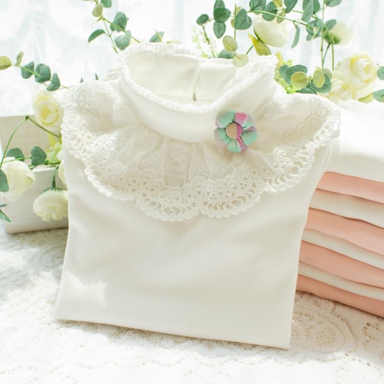 HTB1l uUNpXXXXcraXXXq6xXFXXXi - 2017 Autumn Girls Turtleneck T-Shirt Cotton Children White Pink Shirts Baby Girls Clothing Long Sleeve Bottom Tops For Kids