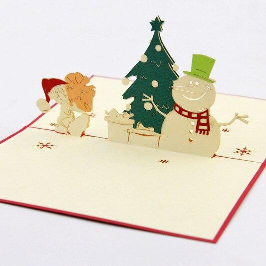 cubo vida tarjeta de navidad payaso mueco de nieve pino idea de regalo estreo d tarjeta