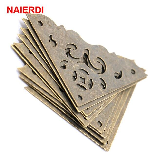50PCS NAIERDI Jewelry Box Book Scrapbook Bronze Corner Bracket Frame Accessories Notebook Menu Decorative Protector