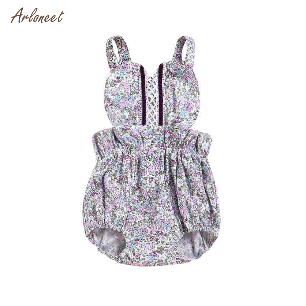 ARLONEET Newborn Infant Baby Girls Romper Floral Print Backless Jumpsuit Outfits Clothes 2018 HOT Dropshipping _E8