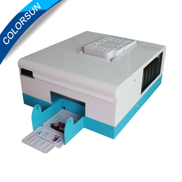 upgrade automatic pvc id card printer for 4 size inkjet card printing machine 8654 - Pvc Card Printer