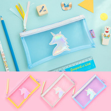 20 Pcs Kawaii laser Pu Pencil Case Unicorn Cartoon Gift Estuches School Pencil Box Makeup Pencil Bag School Supplies Stationery