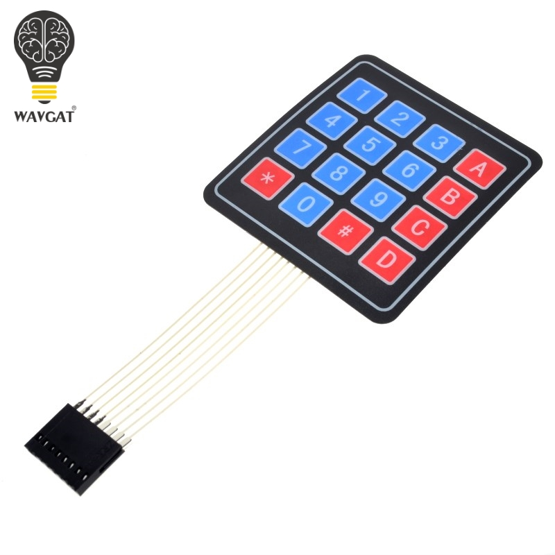 Free Shipping New 16 Key 4 X 4 Membrane Switch Keypad 4x4 4*4 Matrix Array Matrix Keyboard