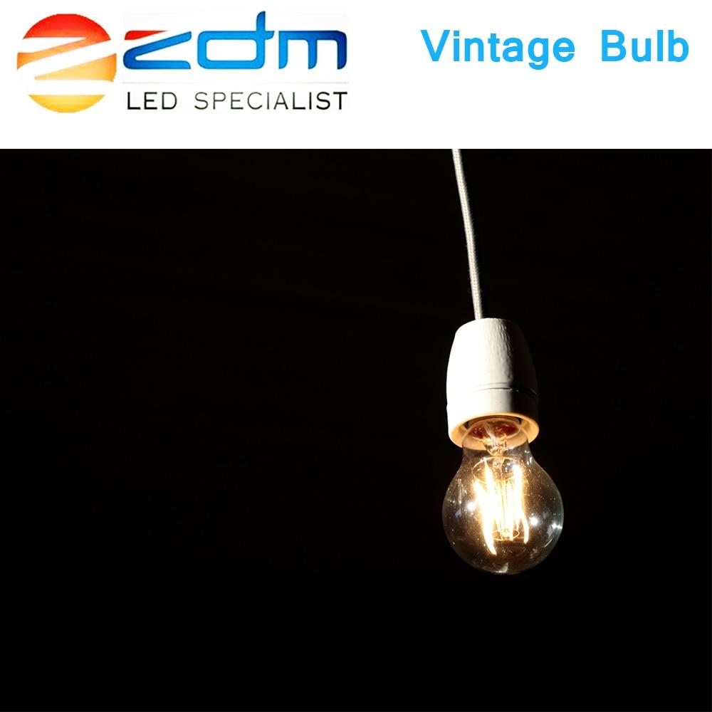 ZDM vintage lamp E14 E27 LED bulb 220v LED lamp Globe decorative A60 C35 G45 2W 4W 6W 8W Filament E27 Edison LED Light Bulbs