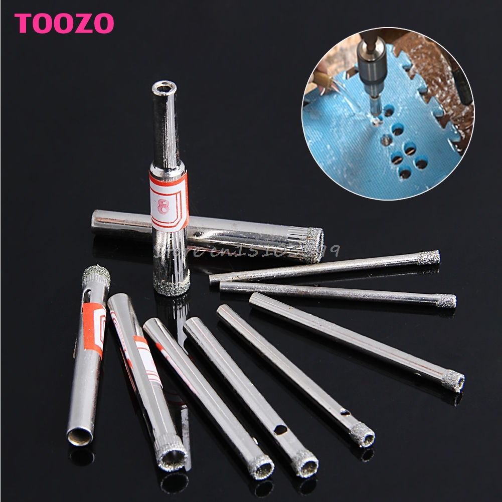 10Pcs 3/4/5/6/8mm Diamond Coated Core Saw Hole Drill Tool For Glass Marble Tiles #G205M# Best Quality fpv x uav talon uav 1720mm fpv plane gray white version flying glider epo modle rc model airplane
