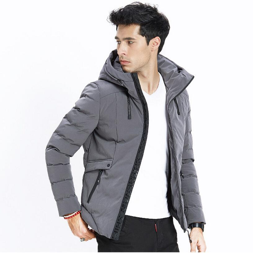 2017 Men's Winter Jackets And Coats Thick Warm Fashion Casual Handsome Young Black And Gray Men Parka Fit Snow Cold JS-1441