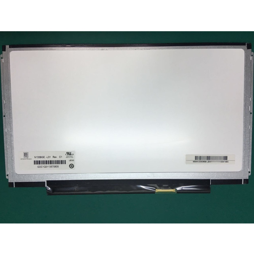 13 3 Laptop matrix N133BGE L31 Rev C1 N133BGE L41 rev C1 LCD Screen HD 1366X768