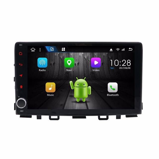 "KLYDE 9 ""1 Rádio Do Carro um Din 8 Núcleo Android 8.1 Para Kia RIO 2017-NO DVD Do Carro Multimedia leitor de áudio Estéreo"