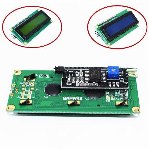 LCD1602 + I2C LCD 1602 modulo Blu/Verde schermo PCF8574 IIC/I2C LCD1602 piastra di AdattamentoLCD1602 + I2C LCD 1602 modulo Blu/Verde schermo PCF8574 IIC/I2C LCD1602 piastra di Adattamento