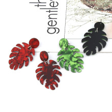 2019 Popular Acetic Acid Earrings Personality Leaf Pendant Acrylic Irregular for Women Wedding Party Jewelry