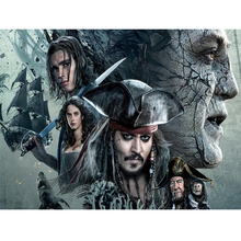 5d diamond Embroidery Pirates of the Caribbean diy painting cross stitch for children puzzle mosaic crafts Y0635