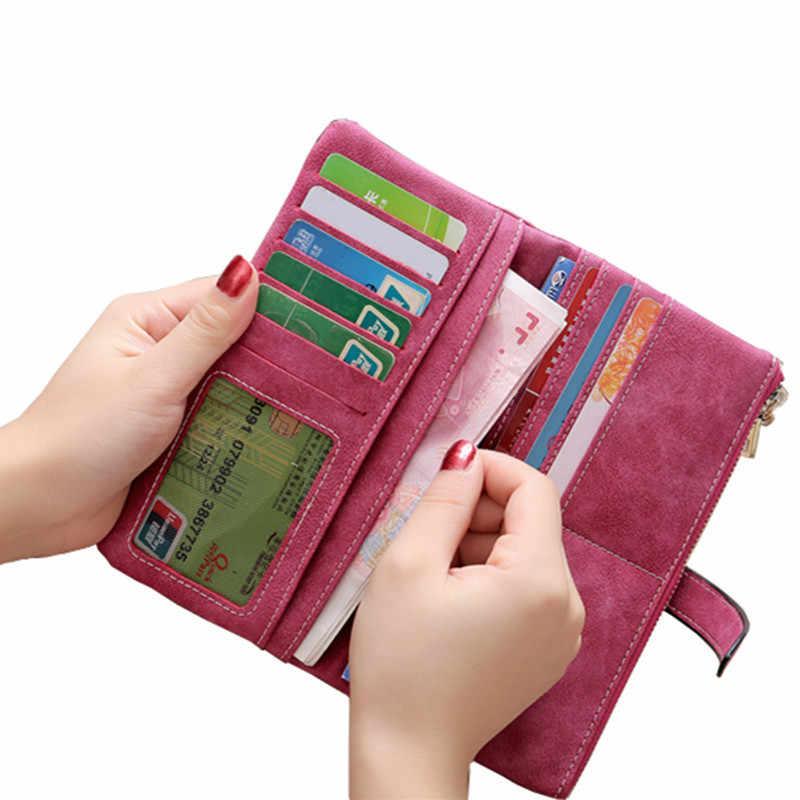 Модный Роскошный бренд, женские кошельки, Матовый кожаный бумажник, Женский кошелек для монет, Женский держатель для карт, небольшая сумка для денег