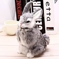 2016 New Arrival Mini And Plush Simulation Animal Squatting Cute Rabbit Model Craft Toy For Kids Brithday Gifts Children Toys