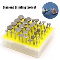 50 Pcs Large Grinder Rotary Tool Set Metal Carving Polishing Tool Diamond Grinding Head Grinding Cutting Head Drill Bits