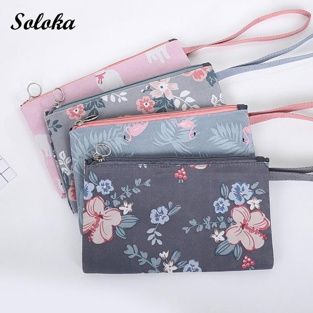 65fcc84f2055 US $2.31 29% OFF|Aliexpress.com : Buy Women Flamingos Wrist Cosmetic Bag  Portable Fold Handbag Makeup Female Multifunction Waterproof Make Up  Storage ...
