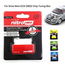 Obd2 Drive Nitro EC0 OBD2 Chip Tuning Box Plug Driver For Cars 15% Fuel Save More Power Launch Diagnostic Tool(China)