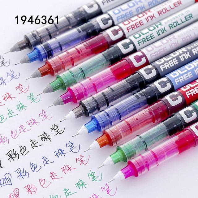 Alta calidad varios colores gran capacidad tinta Gel pluma estudiante Oficina papelería fino rodillo bolígrafo nuevo