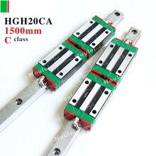 Линейный слайдер с 1500 мм направляющая HGR20 HGH20CA HIWIN чпу набор Высокая эффективность HGH20