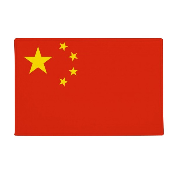 China National Flag Asia Country Anti-slip Floor Mat Carpet Bathroom Living Room Kitchen Door 16x30Gift