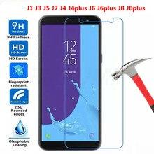 XINDIMAN protective glass on for samsung J4 J4plus J6 J6plus J8 J8plus 2018 9H 2.5D tempered film forJ1 J3 J5 J7 protector