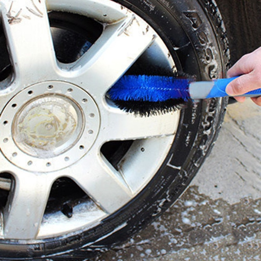 Image 2 - Car Tyre Hub Cleaning Brush Vehicle Motorcycle Wheel Tire Rim Scrub Brush Washing Dust Cleaning Tool for Car Wheel-in Sponges, Cloths & Brushes from Automobiles & Motorcycles