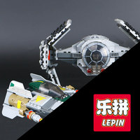 LEPIN 05030 722Pcs Space Star Model Wars Vader Tie Advanced VS A Wing Starfighter Building Blocks