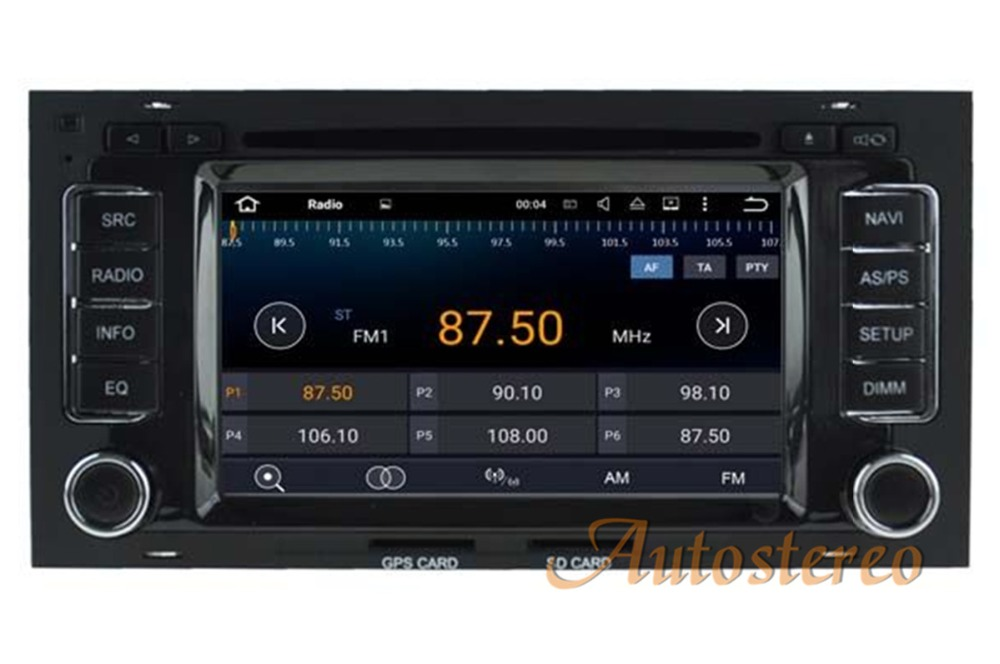 The newest Android 7.1 Car DVD Player for VW Volkswagen TOUAREG 2003 2010 car GPS navigation stereo Radio vedio Bluetooth WIFI