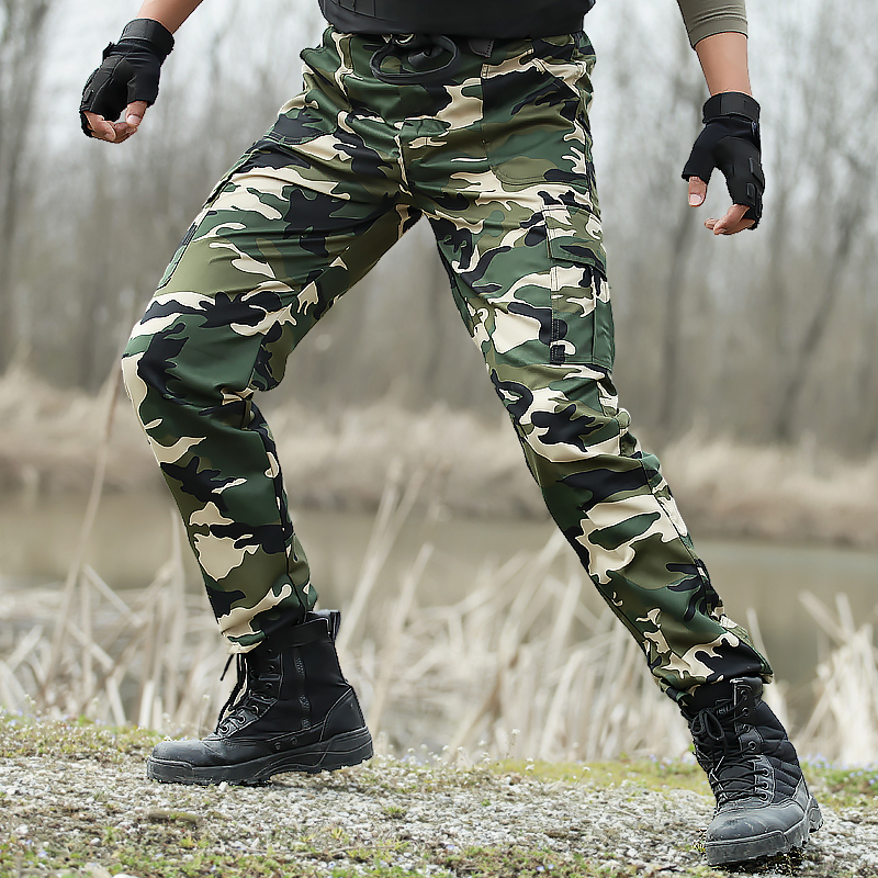Camouflage Cargo Combat Joggers Pants Men Military Tactical Special Force Work Trousers Army Camo Pants Joggers Trousers
